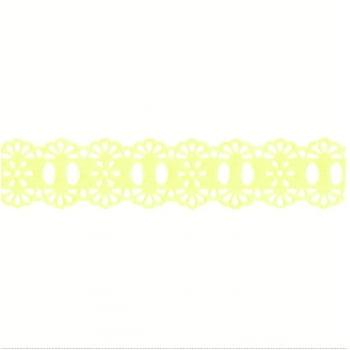 Passa Fita Crochê Liso Amarelo