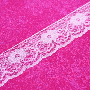 Renda de Nylon 37mm Rosa BB