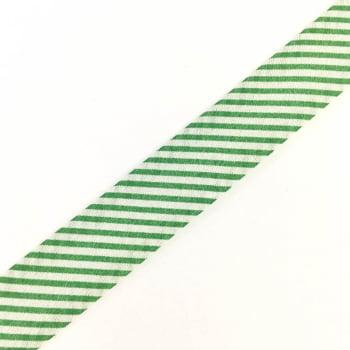 Viés Estampado Listrado Verde Cor 315 (Pacote com 5 metros)
