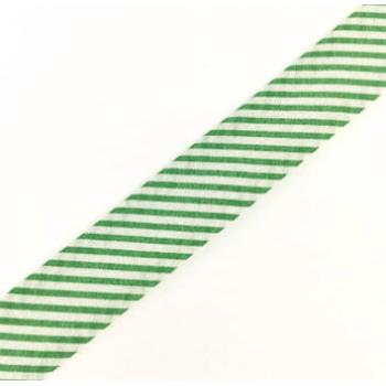 Viés Estampado Listrado Verde Cor 315 (Rolo com 20 metros)