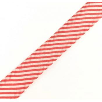 Viés Estampado Listrado Vermelho Cor 317 (Rolo com 20 metros)