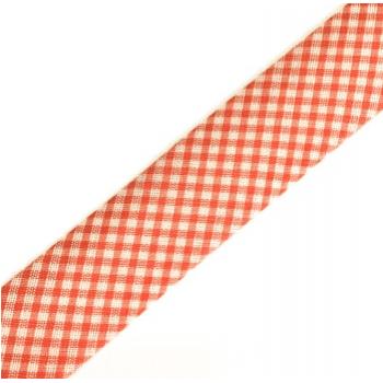 Viés Estampado Xadrez Vermelho Cor 206 (Rolo com 20 metros)