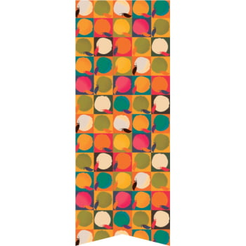 Viés Popeline Kitchen 25mm 10 metros Maças Mosaico Cor 379