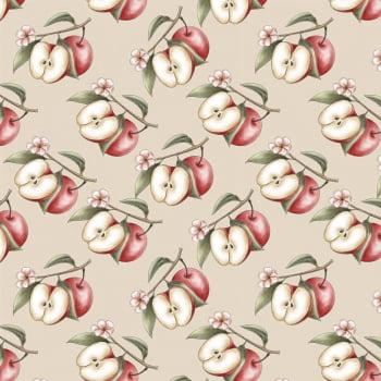 Tecido Digital Apple Branch (Coleção Anita Catita Red Blossom)
