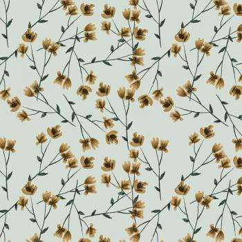 Tecido Digital Tiny Yellow Branch (Coleção Anita Catita Red Blossom)
