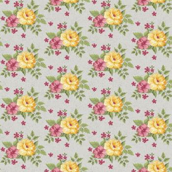 Tecido Bouquet Cinza (Coleção Beautiful Smile)
