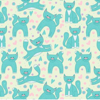 Tecido Gatos Tiffany (Coleção Cat Lovers)
