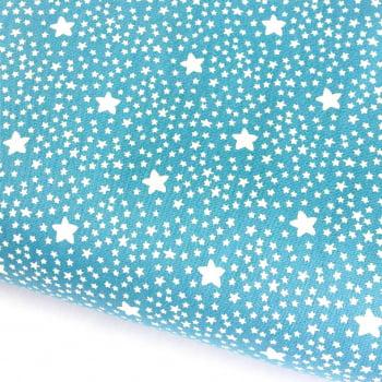 Tecido Estrelado Azul Campestre (Coleção Estrelinhas Basics & Colors)