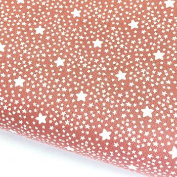Tecido Estrelado Rosa Antigo (Coleção Estrelinhas Basics & Colors)