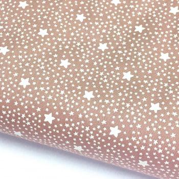Tecido Estrelado Rosa Rei (Coleção Estrelinhas Basics & Colors)