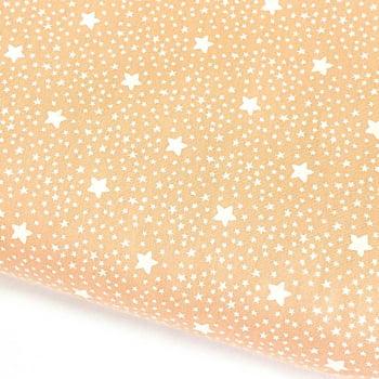 Tecido Estrelado Salmão Claro (Coleção Estrelinhas Basics & Colors)