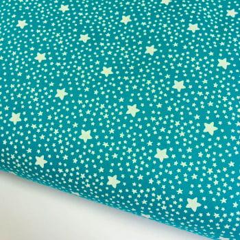 Tecido Estrelado Turmalina (Coleção Estrelinhas Basics & Colors)