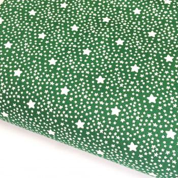 Tecido Estrelado Verde Floresta (Coleção Estrelinhas Basics & Colors)