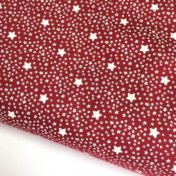 Tecido Estrelado Vinho (Coleção Estrelinhas Basics & Colors)