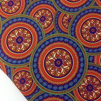 Tecido Digital Mandalas Circular Cigana