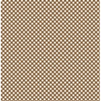 Tecido Micro Xadrez Marrom (Coleção Micro Xadrezes)