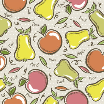 Tecido Apple Pear  (Coleção Modern Kitchen)