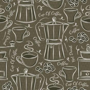 Tecido Cup of Coffe  (Coleção Modern Kitchen)