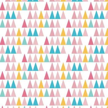 Tecido Triângulos Multicolor