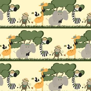 Retalho Tecido Faixas Safari (50x36cm)