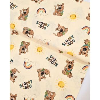 Tecido Scooby Doo Fd Amarelo Claro