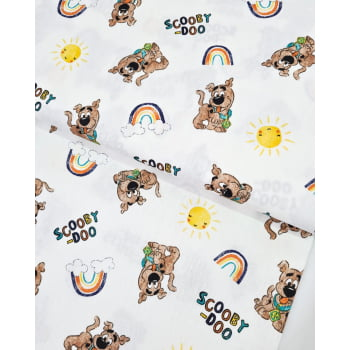 Tecido Scooby Doo Fd Off White
