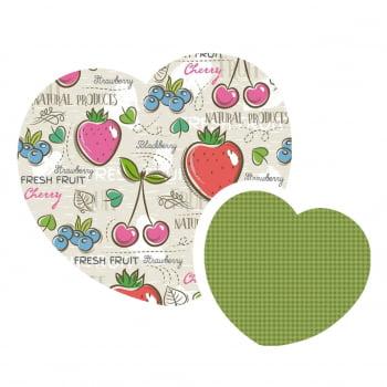 Kit de Tecidos Fresh Fruit + Pied Grama  (2 Cortes de 50x1,50)