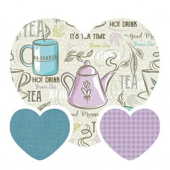 Kit de Tecidos Good Morning + Linho Azul + Xadrez Lilas (3 Cortes de 50x1,50)