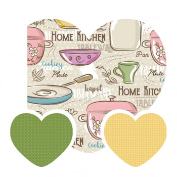 Kit de Tecidos Home Kitchen + Micro Poá Verde + Pied Canário (3 Cortes de 50x1,50)