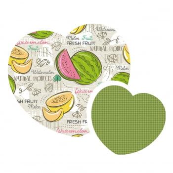 Kit de Tecidos  Melon Watermelon + Pied Grama (2 Cortes de 50x1,50)