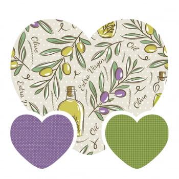 Kit de Tecidos Olive Oil + Micro Poa Lilás + Pied Grama (3 Cortes de 50x1,50)