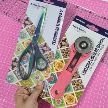 Kit para Avançadinhas na Costura Criativa ou Patchwork (Base Rosa 45x60)
