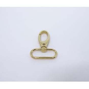 Mosquetão Luxo 3,5cm Ouro Italiano com Verniz