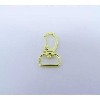Mosquetão 1,5cm Dourado