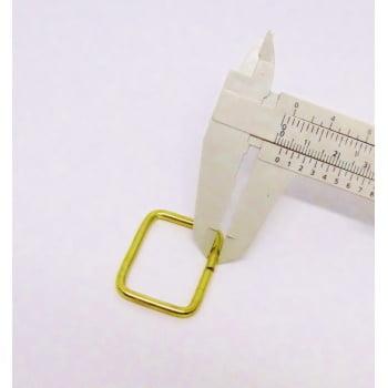Passador de Alça Quadrado Grosso 3cm Dourado