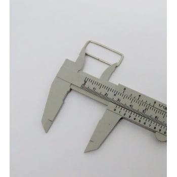 Passador de Alça Retangular 3cm Baixo Niquelado