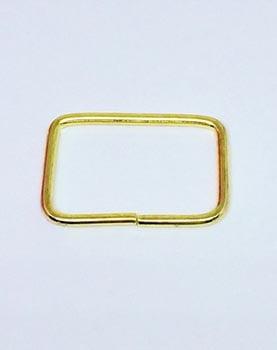Passador de Alça Retangular Alto 4cm Dourado