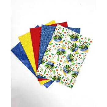 Kit de Tecidos Saladas (5 Cortes de 50x1,50)