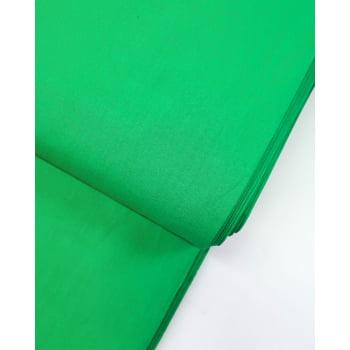 Tecido Liso Verde Folha Coleção Direto da Horta