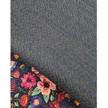 Jeans Matelassado Tradicional Chevron Cor Caramelo (0,36 x 0,48)