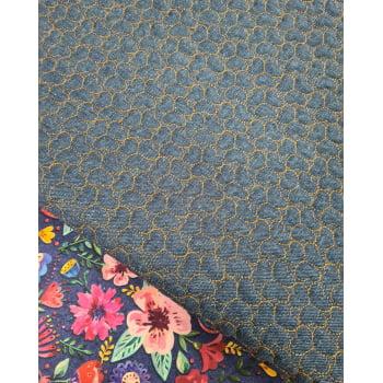 Jeans Matelassado Tradicional Coração Cor Caramelo (0,36 x 0,48)