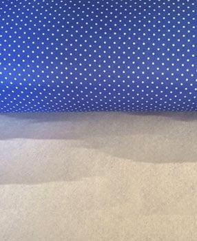 Nylon Dublado (Acoplado) Poá Azul Royal