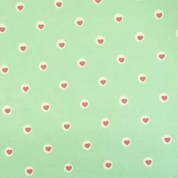 PVC Coração Fd Verde Claro