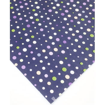 PVC Dots Navy Blue