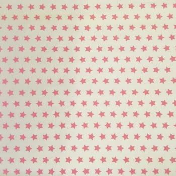 PVC Estrelas Rosa Fd Branco