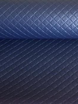 PVC Matelassado Dijon Azul Marinho