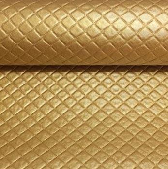 PVC Matelassado Dijon Dourado