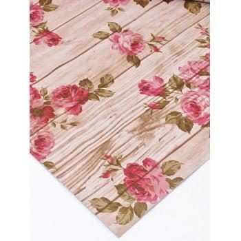 PVC Rosas Grandes Rosa