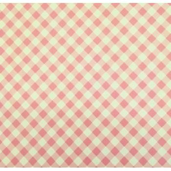 PVC Xadrez Rosa