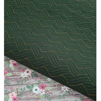 Sarja Matelassada Trança Verde Militar (0,36 x 0,48)